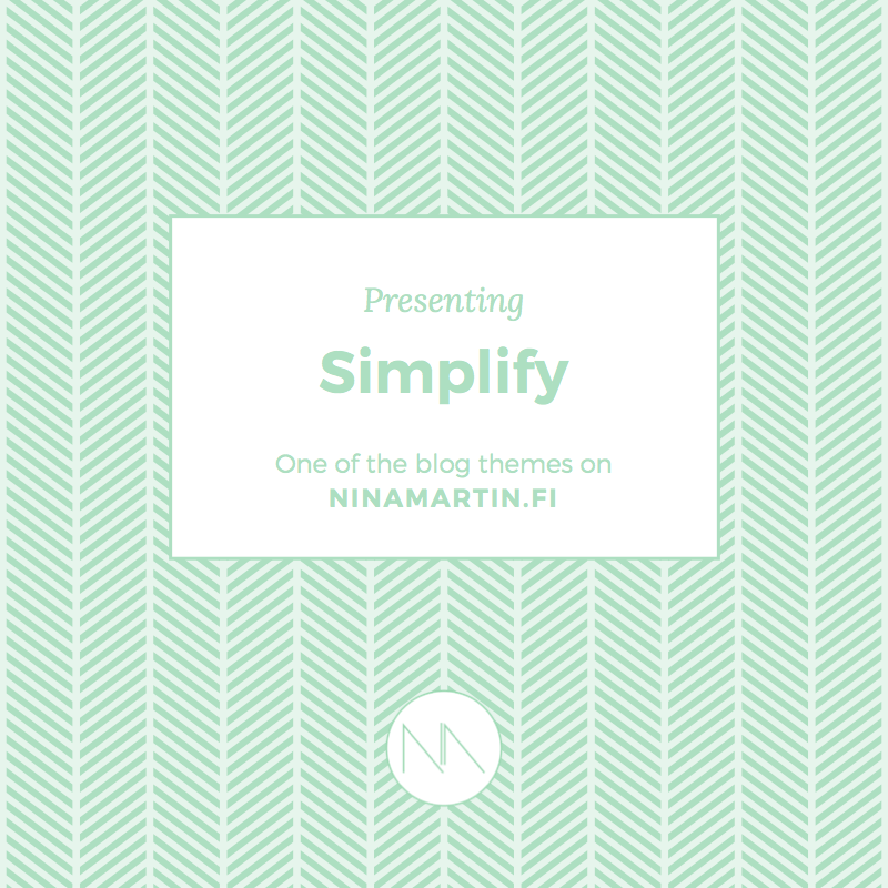 Presenting blog category 3 Simplify | Nina Martin