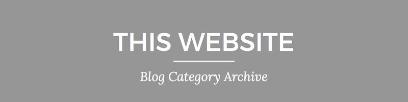 Blog archive header 6 This Website | Nina Martin