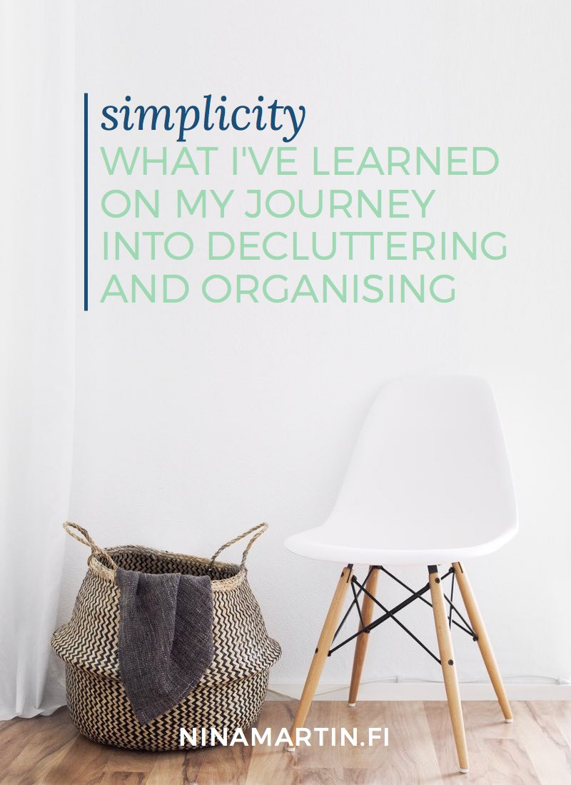 Various lessons learned on what works for me when decluttering and organising, and tips for you how to start your own journey.