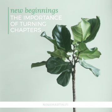 New beginnings: The importance of turning chapters