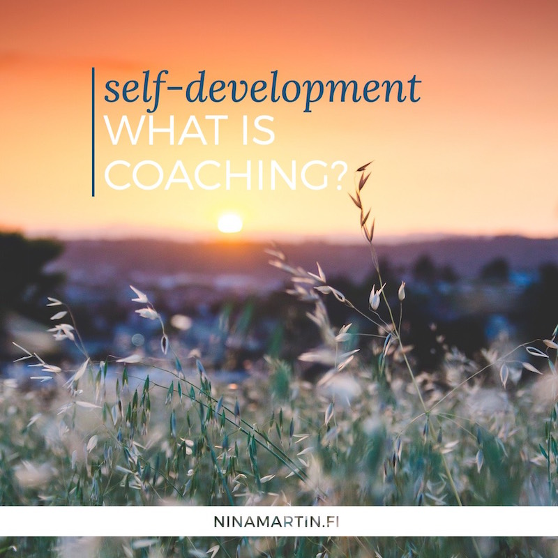 Self-development: What is coaching?