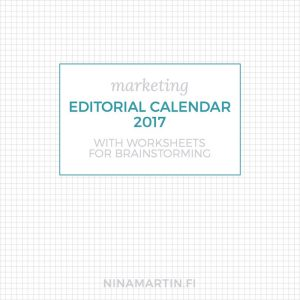 Squared paper with editorial calendar announcement