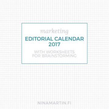 Free Editorial Calendar 2017