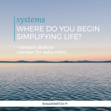 Where do you begin simplifying life?
